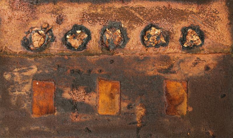 Oxidationsfarben, Rosteffekt und Patina, mit Spachtelmassen und Acrylfarbe