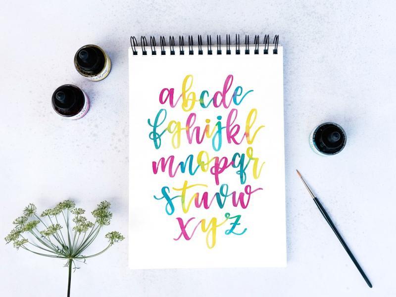 Waterolor Lettering