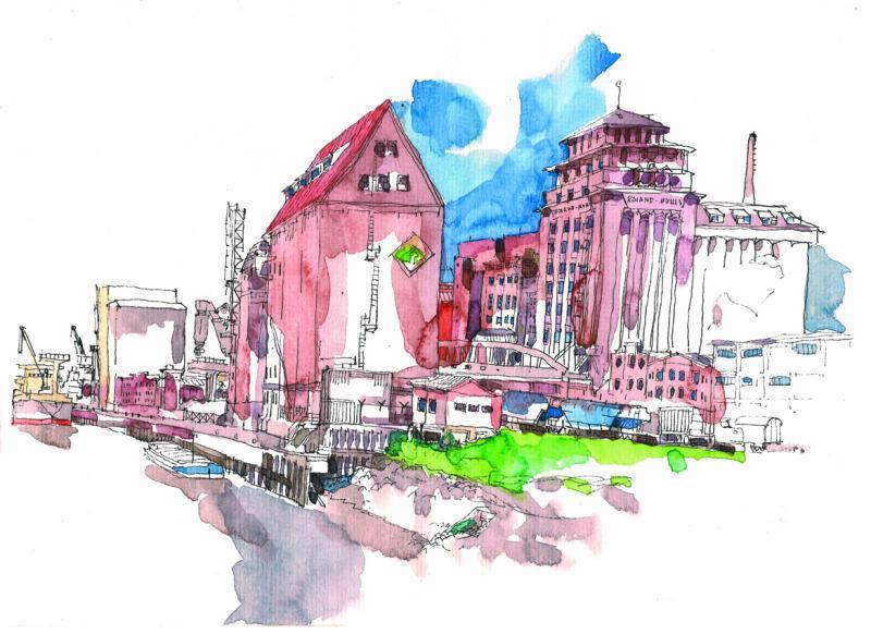 Urban Sketching im Winter