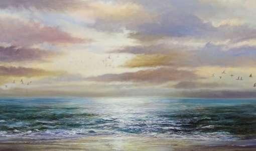*Realistische Landschaftsmalerei in Acryl